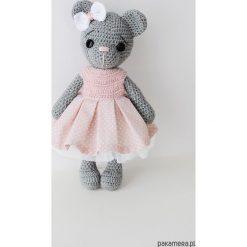 Leniuszek - różowa sukienka w kropki. Czerwone sukienki niemowlęce Pakamera, w kropki, z bawełny. Za 97,00 zł.