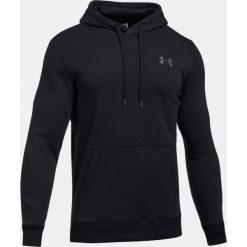 Bejsbolówki męskie: Under Armour Bluza męska Rival Fleece Fitted Hoodie czarna r. L (1302292-001)