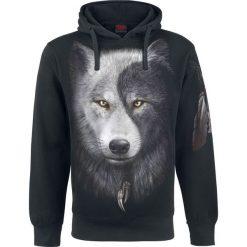 Spiral Wolf Chi Bluza z kapturem czarny. Czarne bluzy męskie rozpinane marki Cropp, l, z polaru, z kapturem. Za 164,90 zł.