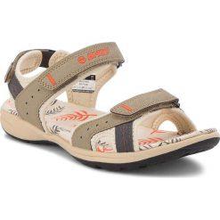 Sandały HI-TEC - Wayne AVSSS18-HT-01-Q2  Sand/Dark Grey/Coral. Szare sandały damskie Hi-tec, z gumy. W wyprzedaży za 139,00 zł.
