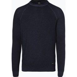 Swetry klasyczne męskie: BOSS Casual - Sweter męski – Akutisro, niebieski
