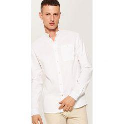 Koszule męskie: Koszula ze stójką – Biały