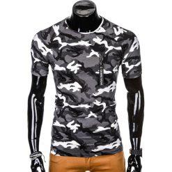 T-SHIRT MĘSKI Z NADRUKIEM S1011 - SZARY/MORO. Szare t-shirty męskie z nadrukiem Ombre Clothing, m, z bawełny. Za 35,00 zł.