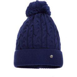 Czapki zimowe damskie: Duża granatowa czapka QUIOSQUE
