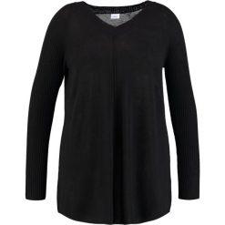 Swetry klasyczne damskie: Zizzi Sweter black