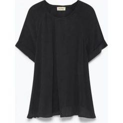 Koszulka w kolorze antracytowym. Szare bluzki nietoperze American Vintage, s, z okrągłym kołnierzem, z długim rękawem. W wyprzedaży za 142,95 zł.