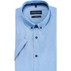 Koszula MICHELE slim KKNS000031. Czarne koszule męskie na spinki marki TOM TAILOR DENIM, l, z bawełny, button down, z długim rękawem. Za 199,00 zł.