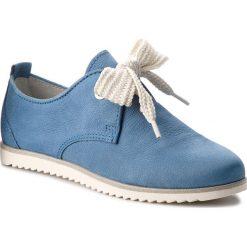 Półbuty MARCO TOZZI - 2-23614-20 Azure 883. Niebieskie półbuty damskie skórzane marki Marco Tozzi, na płaskiej podeszwie. W wyprzedaży za 169,00 zł.