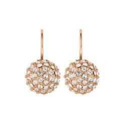 Kolczyki damskie: Kolczyki w kolorze różowego złota z kryształami