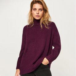 Długi sweter - Bordowy. Czerwone swetry klasyczne damskie Reserved, m. Za 139,99 zł.