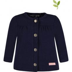 Bluza w kolorze granatowym. Niebieskie bluzy dziewczęce rozpinane marki bellybutton, z bawełny. W wyprzedaży za 59,95 zł.