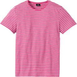T-shirty męskie: T-shirt Regular Fit bonprix różowo-biały