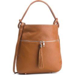 Torebka CREOLE - K10567 Koniak. Brązowe torebki klasyczne damskie Creole, ze skóry. Za 249,00 zł.
