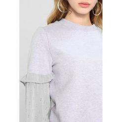 Bluzy rozpinane damskie: Lost Ink Petite DOBBY BLOUSEN SLEEVE Bluza light grey
