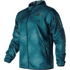 """Kurtka """"Windcheater"""" w kolorze morskim do biegania. Niebieskie kurtki do biegania męskie New Balance, m, z materiału. W wyprzedaży za 216,95 zł."""