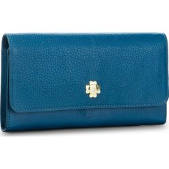 Duży Portfel Damski OCHNIK - PORES-0075 Niebieski. Niebieskie portfele damskie Ochnik, ze skóry. W wyprzedaży za 189,00 zł.