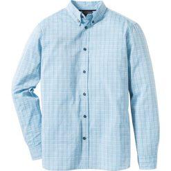 Koszule męskie na spinki: Koszula w delikatną kratę Regular Fit bonprix jasnoniebieski w kratę