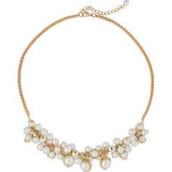 Naszyjniki damskie: Naszyjnik z perełkami bonprix złoty kolor – biały