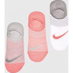 Nike - Stopki (3-pack). Szare skarpetki damskie Nike, z elastanu. W wyprzedaży za 39,90 zł.