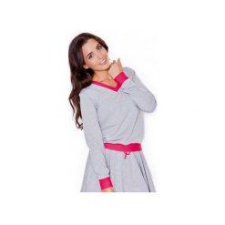 Bluza K276 Róż. Czerwone bluzy rozpinane damskie KATRUS, m, z dresówki, długie. Za 99,00 zł.