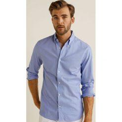 Mango Man - Koszula Quiana. Szare koszule męskie na spinki Mango Man, l, z bawełny, button down, z długim rękawem. Za 199,90 zł.