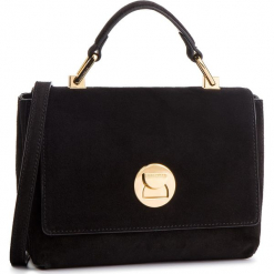 Torebka COCCINELLE - DD1 Liya Suede E1 DD1 58 40 01 Noir/Noir. Brązowe torebki klasyczne damskie marki Coccinelle, ze skóry. Za 1149,90 zł.