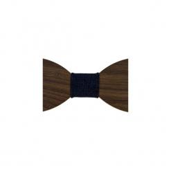 Mucha męska drewniana EM Men's Accessories. Brązowe muchy męskie Em men's accessories, z materiału, wizytowe. Za 99,99 zł.