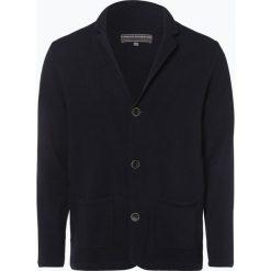 Swetry rozpinane męskie: Finshley & Harding - Kardigan męski, niebieski