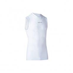 Podkoszulek oddychający bez rękawów Keepdry 500 męski kolor biały. Szare podkoszulki męskie marki Astratex, m, z nadrukiem, z bawełny. Za 34,99 zł.