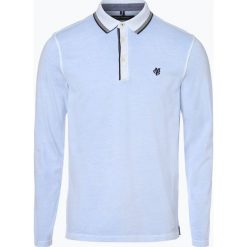 Marc O'Polo - Męska koszulka polo, niebieski. Niebieskie koszulki polo Marc O'Polo, l, z długim rękawem. Za 229,95 zł.