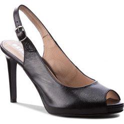Rzymianki damskie: Sandały EKSBUT – 4634-139-1G Czarny Lic