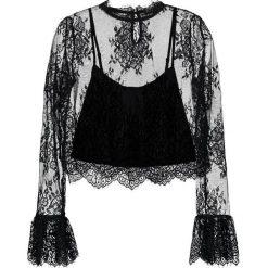 Bluzki asymetryczne: Navy London PRIMROSE Bluzka black