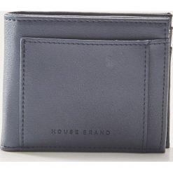 Portfel z eco skóry - Granatowy. Niebieskie portfele męskie House, ze skóry. Za 35,99 zł.