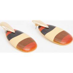 Kolczyki damskie: Drewniane kolczyki w etnicznym stylu.