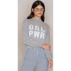 Bluzy rozpinane damskie: Josefin Ekström for NA-KD Bluza GRL PWR - Grey