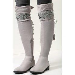 Szare Kozaki Wishing Window. Szare buty zimowe damskie vices, na płaskiej podeszwie. Za 139,99 zł.