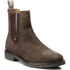 Sztyblety GANT - Ashley 15553121  Dark Brown G46. Brązowe buty zimowe damskie GANT, z materiału, na obcasie. W wyprzedaży za 369,00 zł.
