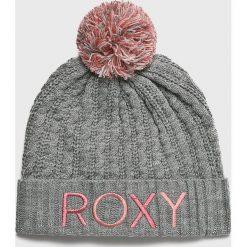 Roxy - Czapka. Szare czapki zimowe damskie Roxy, na zimę, z dzianiny. Za 139,90 zł.