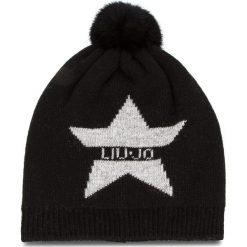 Czapka LIU JO - Capello Stella Log A68257 M0300 Nero 22222. Czarne czapki zimowe damskie Liu Jo, z kaszmiru. Za 259,00 zł.