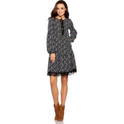 Sukienki: Trapezowa sukienka z nadrukami kropki