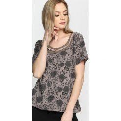 T-shirty damskie: Khaki T-shirt Curlicue