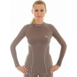 Bluzki sportowe damskie: Brubeck Koszulka damska Thermo LS10670 czekoladowa r. XL