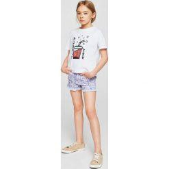 Mango Kids - Szorty dziecięce Seventy 110-164 cm. Czarne szorty damskie z printem marki bonprix. W wyprzedaży za 49,90 zł.