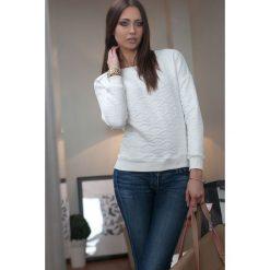Bluzy damskie: Bluza Kremowa 9760