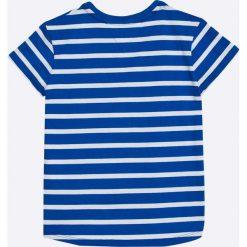 Tommy Hilfiger - Top dziecięcy 122-176 cm. Szare bluzki dziewczęce marki TOMMY HILFIGER, z bawełny, z okrągłym kołnierzem. W wyprzedaży za 119,90 zł.