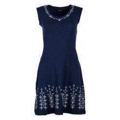 Desigual Sukienka Damska Fanny S Ciemny Niebieski. Szare sukienki na komunię marki Desigual, l, z tkaniny, casualowe, z długim rękawem. W wyprzedaży za 319,00 zł.