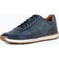 Trampki męskie: Gordon & Bros. - Męskie tenisówki ze skóry – New Conte, niebieski