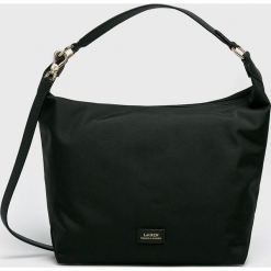 Lauren Ralph Lauren - Torebka. Szare shopper bag damskie Lauren Ralph Lauren, w paski, z materiału, na ramię, średnie. Za 499,90 zł.