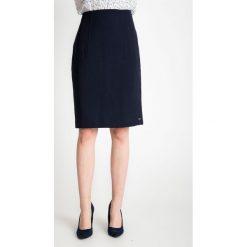Spódniczki: Granatowa ołówkowa spódnica QUIOSQUE