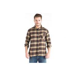 Koszula męska klasyczna, z guzikami, Z KOŁNIERZEM casual flanelowa. Szare koszule męskie marki TXM, m. Za 14,99 zł.